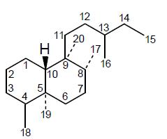 Ent-Clerodano_-_Numeración